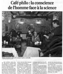 lire l'article 'Caf� philo : La conscience de l'homme face � la science'